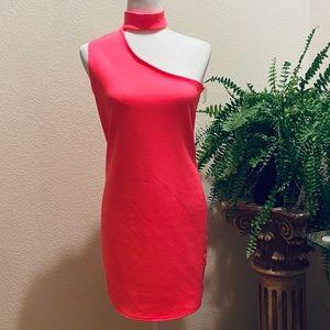 "NEW Hot pink Dress size "" L """